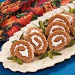 Pumpkin Cake Roll recipe