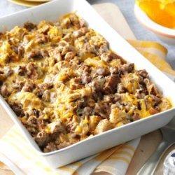 Mushroom Sausage Strata recipe