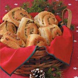 Chive Pinwheel Rolls recipe
