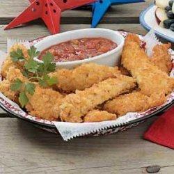 Potato Chip Chicken Strips recipe
