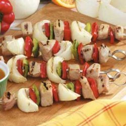 Veggie Pork Kabobs recipe
