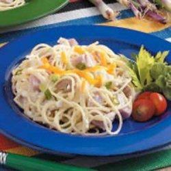 Ham Spaghetti Skillet recipe