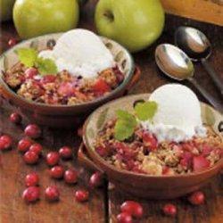Potluck Cranberry Apple Crisp recipe