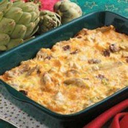 Artichoke Egg Casserole recipe