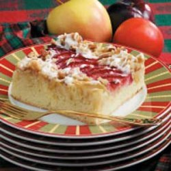 Apple Plum Streusel Dessert recipe