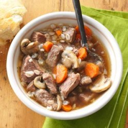 Hearty Beef Barley Soup recipe