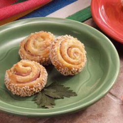Ham-It-Up Sesame Pinwheels recipe