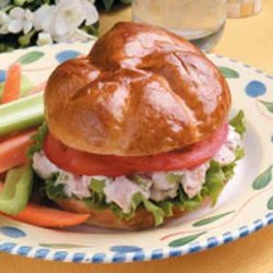 Barbecued Chicken Salad Sandwiches recipe