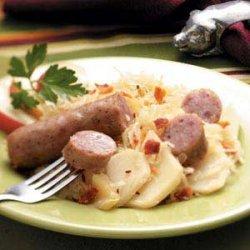 Brat Sauerkraut Supper recipe