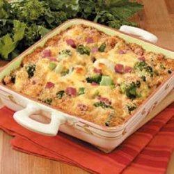 Cheesy Broccoli Cauliflower Casserole recipe