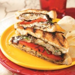 Grilled Eggplant Pepper Sandwiches recipe