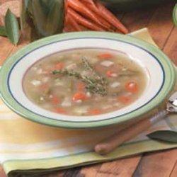 Turkey Vegetable Barley Soup recipe