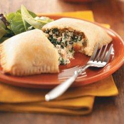 Sausage & Spinach Calzones recipe