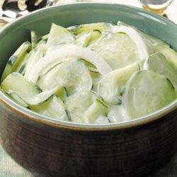 Sour Cream Cucumbers recipe