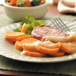 Pork Chops with Sweet Potato recipe