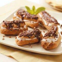 Banana Cream Eclairs recipe