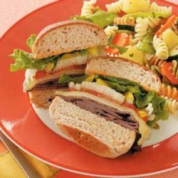 Toasted Zippy Beef Sandwiches recipe
