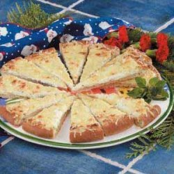 Appetizer Crab Pizza recipe