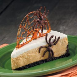 Spiderweb Pumpkin Cheesecake recipe