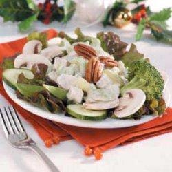 Chicken Veggie Salad Plate recipe