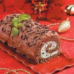 Chocolate Mint Cake Roll recipe