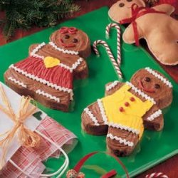 Gingerbread Boy and Girl Cakes recipe
