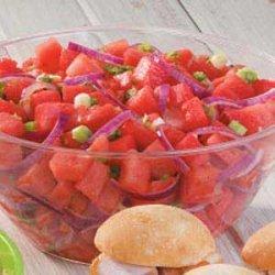 Tangy Watermelon Salad recipe