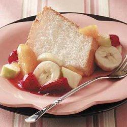 Angel Food Cake with Fruit recipe