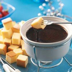 Caramel Chocolate Fondue recipe