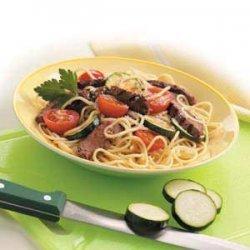 Italian Beef with Spaghetti recipe
