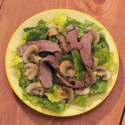 Grilled Steak and Mushroom Salad recipe