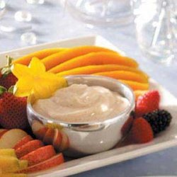 Spiced Sour Cream Dip (with fruit) recipe