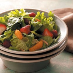 Spring Greens with Berries recipe