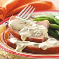 Ham with Mustard-Cream Sauce recipe