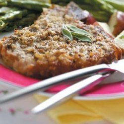 Veal Chops with Mustard-Sage Crust recipe