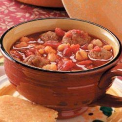 Hominy Meatball Stew recipe