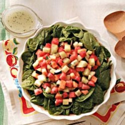 Melon Salad with Poppy Seed Vinaigrette recipe