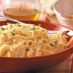 Spaghetti with Four Cheeses recipe