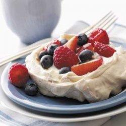 Meringues with Fresh Berries recipe