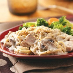 Turkey Mushroom Casserole recipe