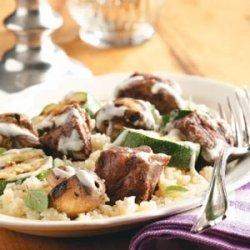 Lamb Kabobs with Yogurt Sauce recipe