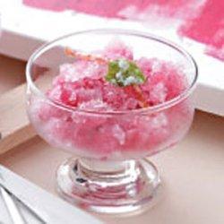 Gingered Cranberry Granita recipe