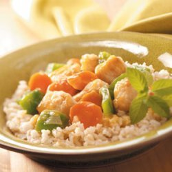 Orange Chicken and Veggies with Rice recipe