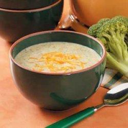 Broccoli Cheese Soup for 2 recipe