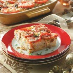 Chorizo Tomato Strata recipe