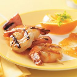 Grilled Shrimp with Apricot Sauce recipe