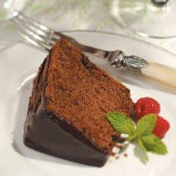 Chocolate Angel Food Cake with Coffee Icing recipe