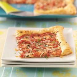 Tomato Tart with Three Cheeses recipe