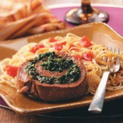Spinach Flank Steak Pinwheels recipe