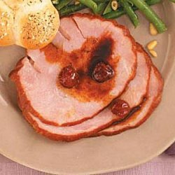 Ham with Spiced-Cherry Sauce recipe